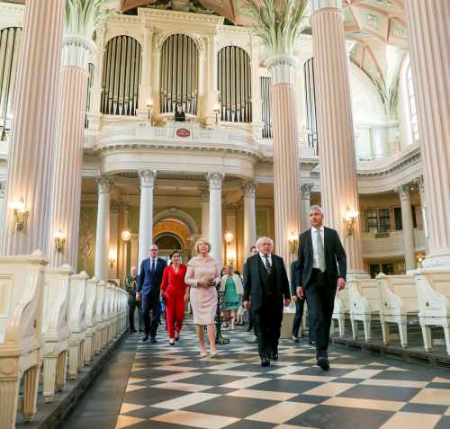 President and Sabina visit the Church of St. Nicholas