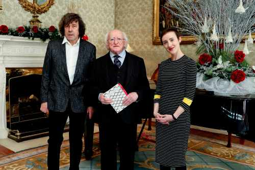 President receives participants in the 'Correspondence - An anthology to call for an end to Direct Provision' project