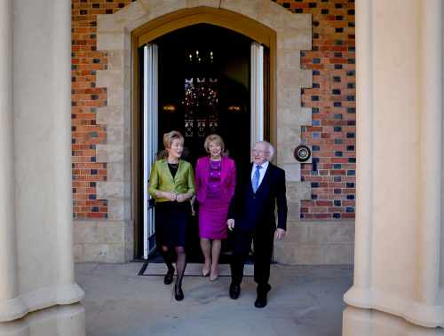 President And Sabina Are Greeted By Her Excellency, Governor Of Western Australia…