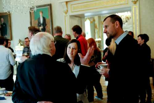 President Higgins welcomes organisations managing national parliament buildings