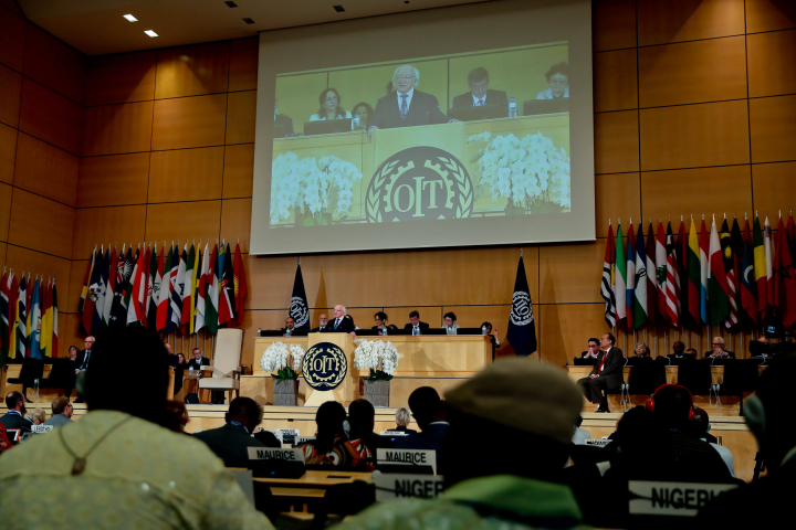 President delivers keynote address at ILO World of Work Summit, Geneva