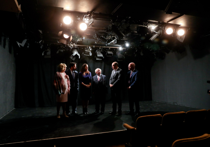 President visits Irish Arts Center
