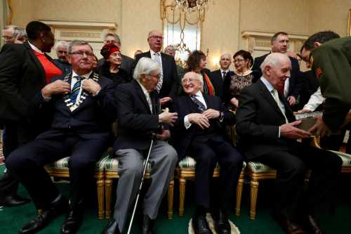 President receives members from the Tipperary Peace Committee on their 35th Anniversary