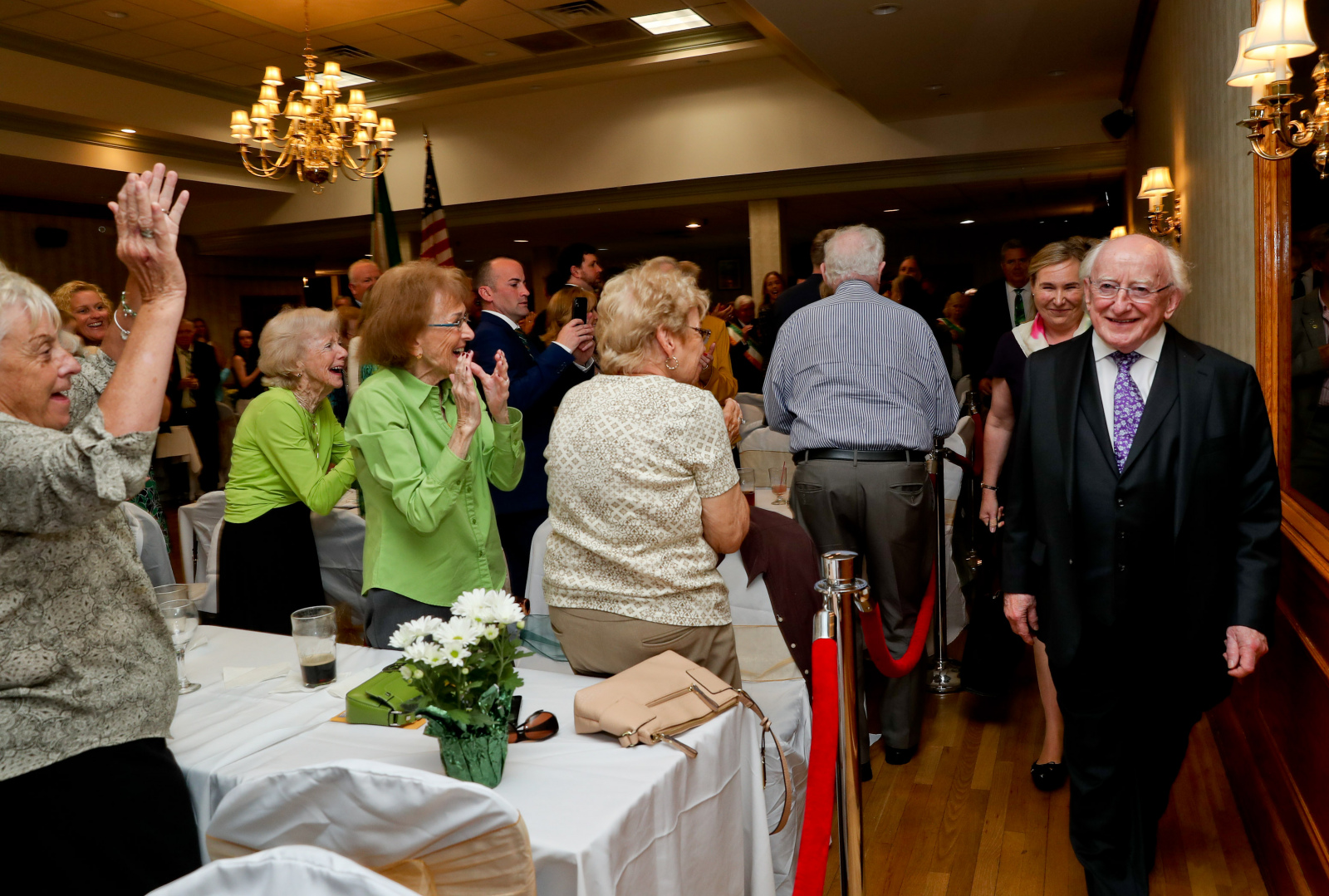 President visits Irish American Society for Nassau, Suffolk and Queens