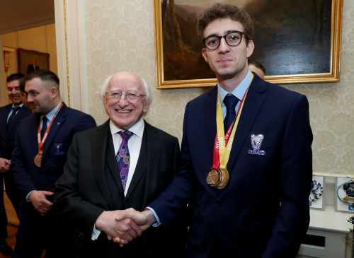 President receives the Irish Team who competed in WorldSkills Competition for apprentices and trainees