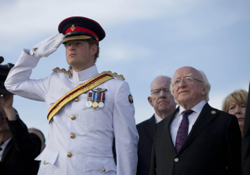 Pictured is HRH Prince Harry and President Michael D Higgins at Helles Memorial, Gallipoli