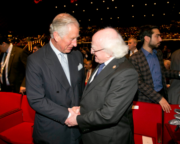 President Michael D Higgins with HRH The Prince of Wales at the Istanbul Congress Centre