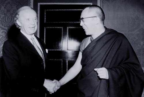 President Childers with the Dalai Lama