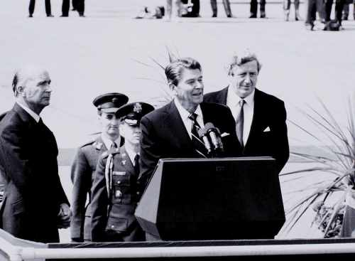 US President Ronald Reagan visits Ireland
