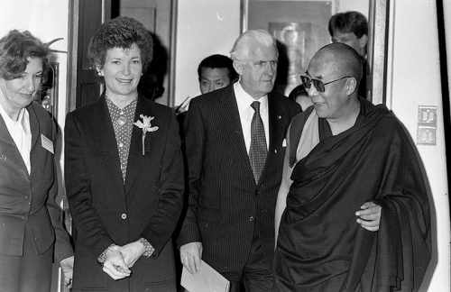 Mary Robinson and the Dalai Lama