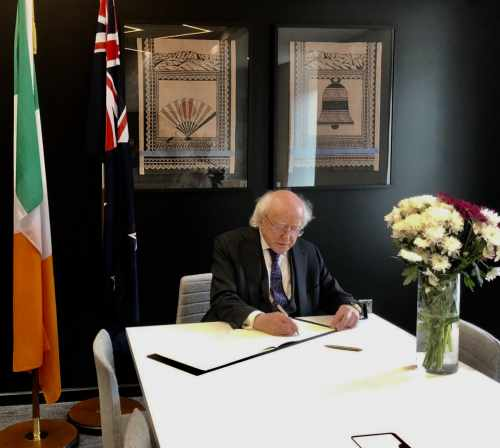 President signs book of condolences