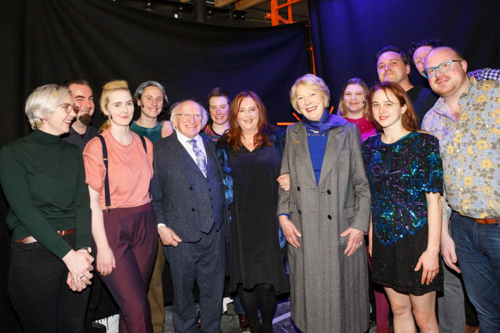 President and Sabina attend performance of 'Woman Undone' by Mary Coughlan and Brokentalkers