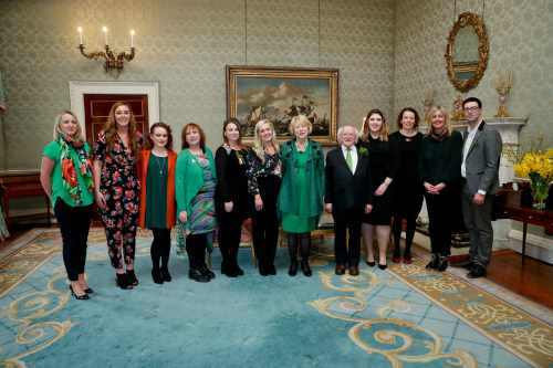 President and Sabina host a St. Patrick's Day Reception recognising those who work to support homeless people