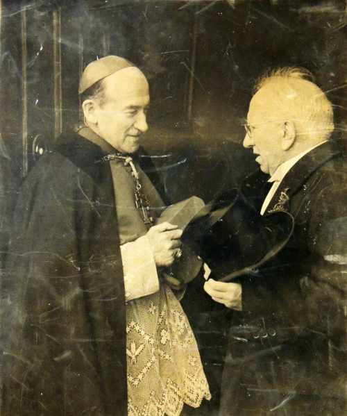 President O Ceallaigh with Archbishop John Charles Mc Quaid