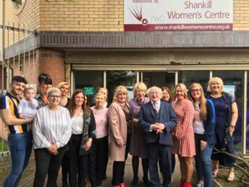President and Sabina visit Shankill Women's Centre