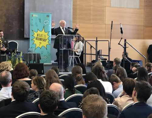 President speaks at the second Irish Young Philosopher Awards Festival