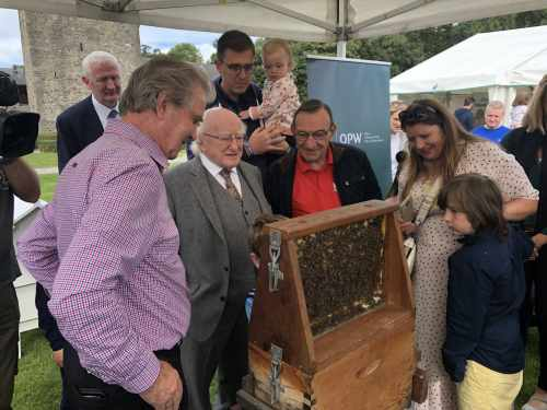 President opens the Phoenix Park Biodiversity Festival and Honey Show