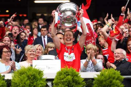 President attends the All Ireland Senior Camogie Final