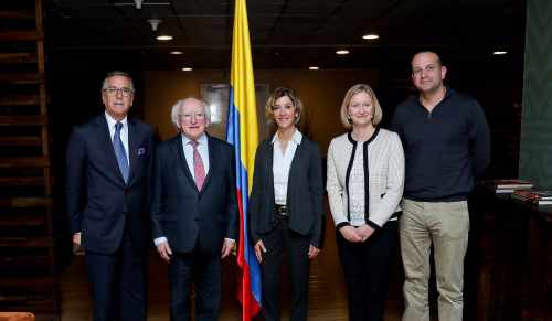 President Higgins arrives in Bogota, Colombia