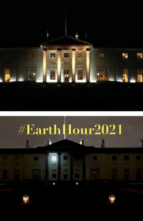 President and Sabina mark Earth Hour 2021