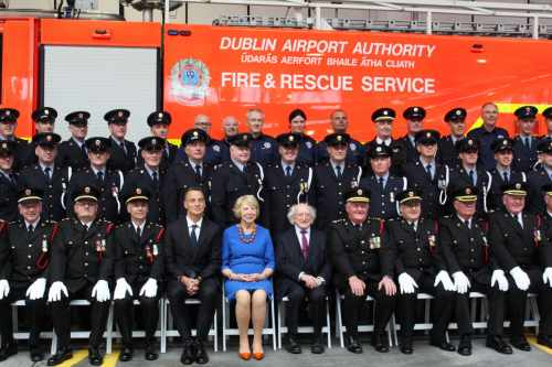 President Attends The 75th Anniversary Commemoration Of The Fire Rescue And Emergency Ambulance Services Of Dublin Airport