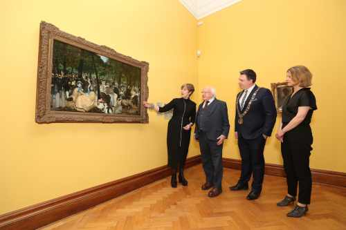 President officially opens exhibition of paintings from the Hugh Lane Bequest
