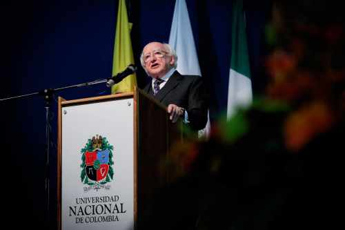 President delivers keynote address on Irish and Colombian Peace Processes
