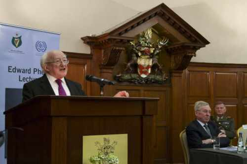President Higgins delivers the Edward Phelan Lecture 2015