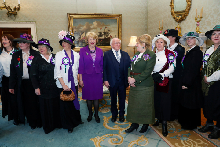 President hosts a reception to mark International Women's Day 2018