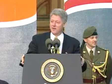 US President Bill Clinton visits Ireland