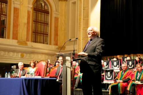 President is presented with Freedom of Cork City
