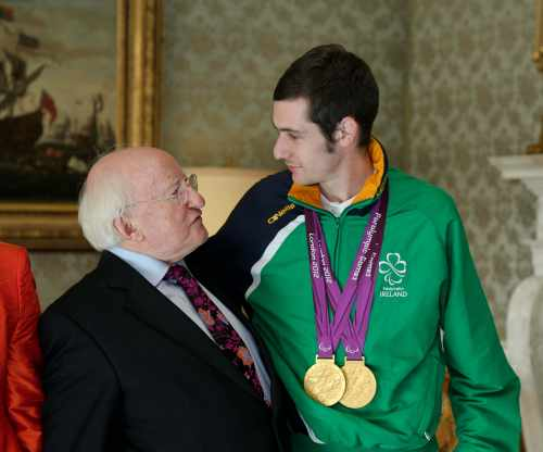 Reception for the Irish Paralympic Team 2012