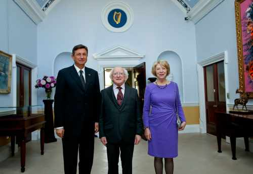 President of Slovenia meets with President Higgins