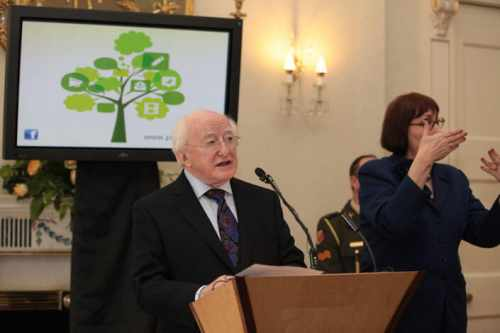 President Higgins calls for young people's vision