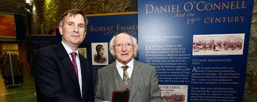President delivers the 2015 Daniel O'Connell Memorial Lecture