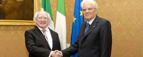 President Higgins on three-day Official Visit to Italy