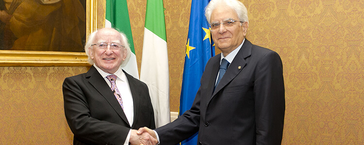 News | President Higgins On Three Day Official Visit To Italy