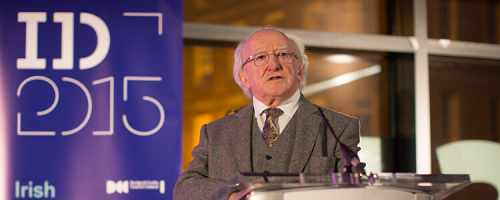 President launches the Liminal - Irish design at the threshold exhibition