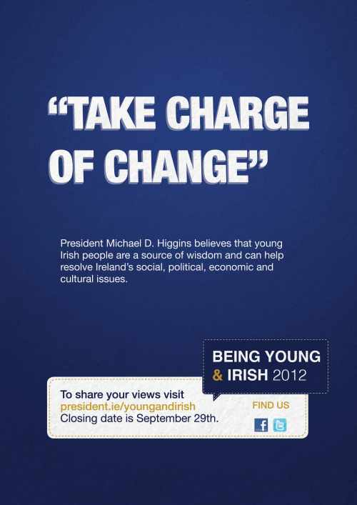 President Higgins invites young people to take charge of change