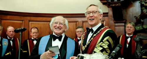 President is conferred with Honorary Fellowship of the Royal College of Surgeons of Ireland