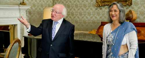 President Michael D. Higgins received UN Special Rapporteur on Cultural Rights, Ms Farida Shaheed