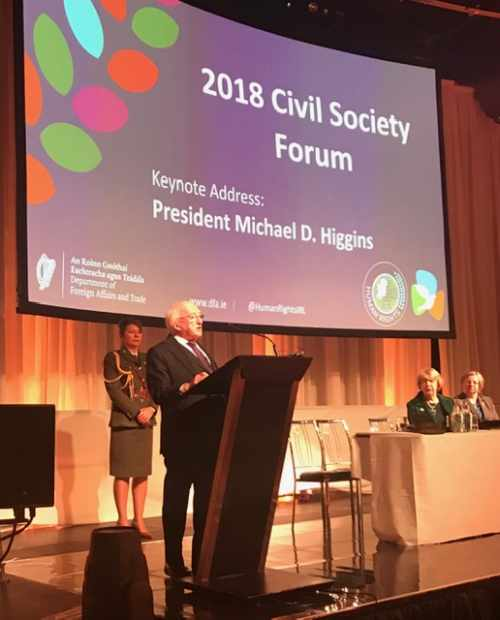 President delivers keynote address at the Civil Society Human Rights Forum on the theme of the 70th Anniversary of the Universal Declaration of Human Rights